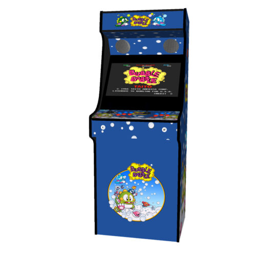 Classic Upright Arcade Machine - Bubble Bobble Theme - Midde