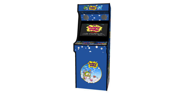 Classic Upright Arcade Machine - Bubble Bobble Theme - Midde