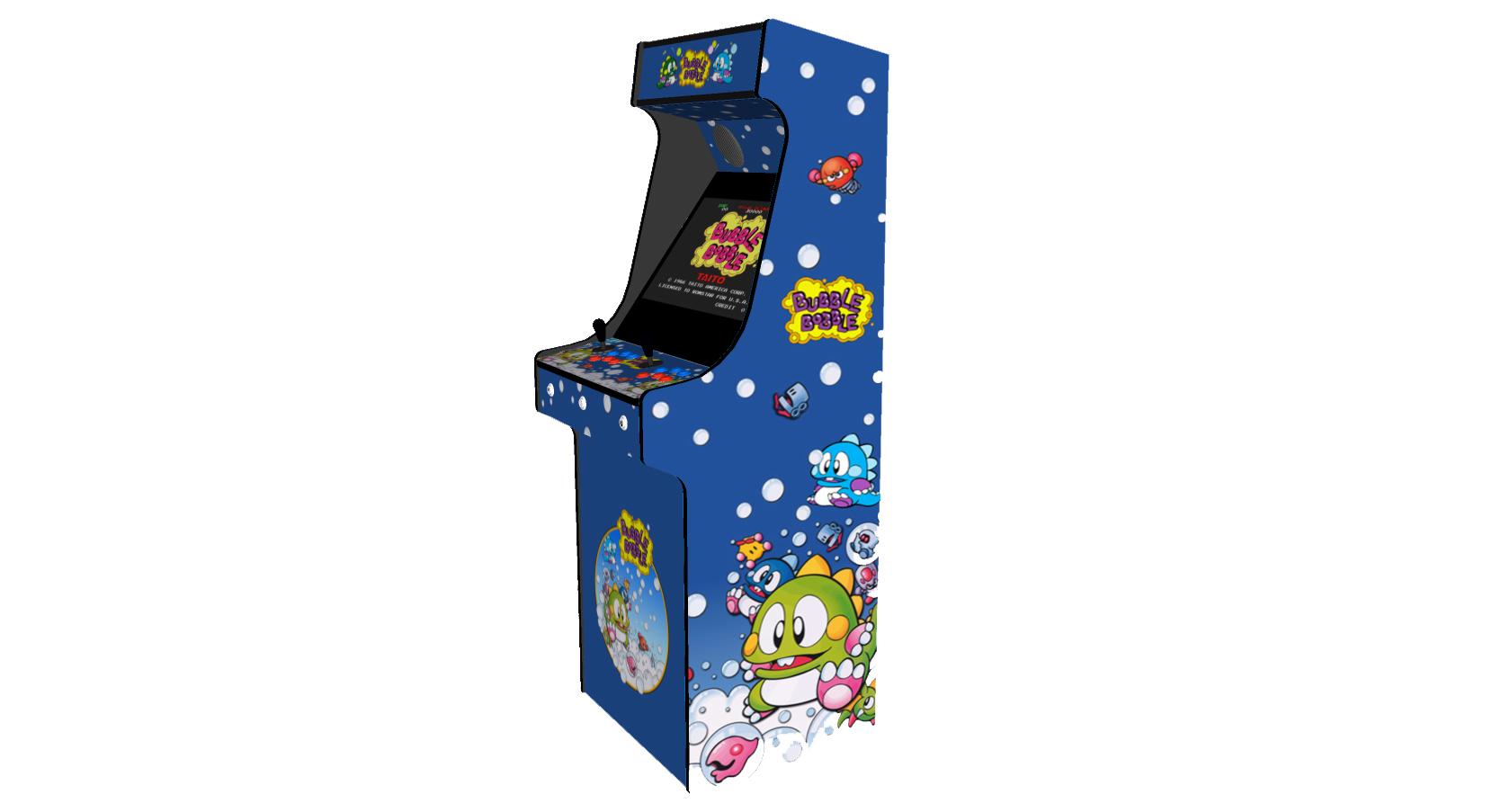 Classic Upright Arcade Machine - Bubble Bobble Theme - Right
