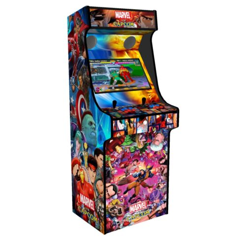 Classic Upright Arcade Machine - Marvel vs Capcom Theme - Left