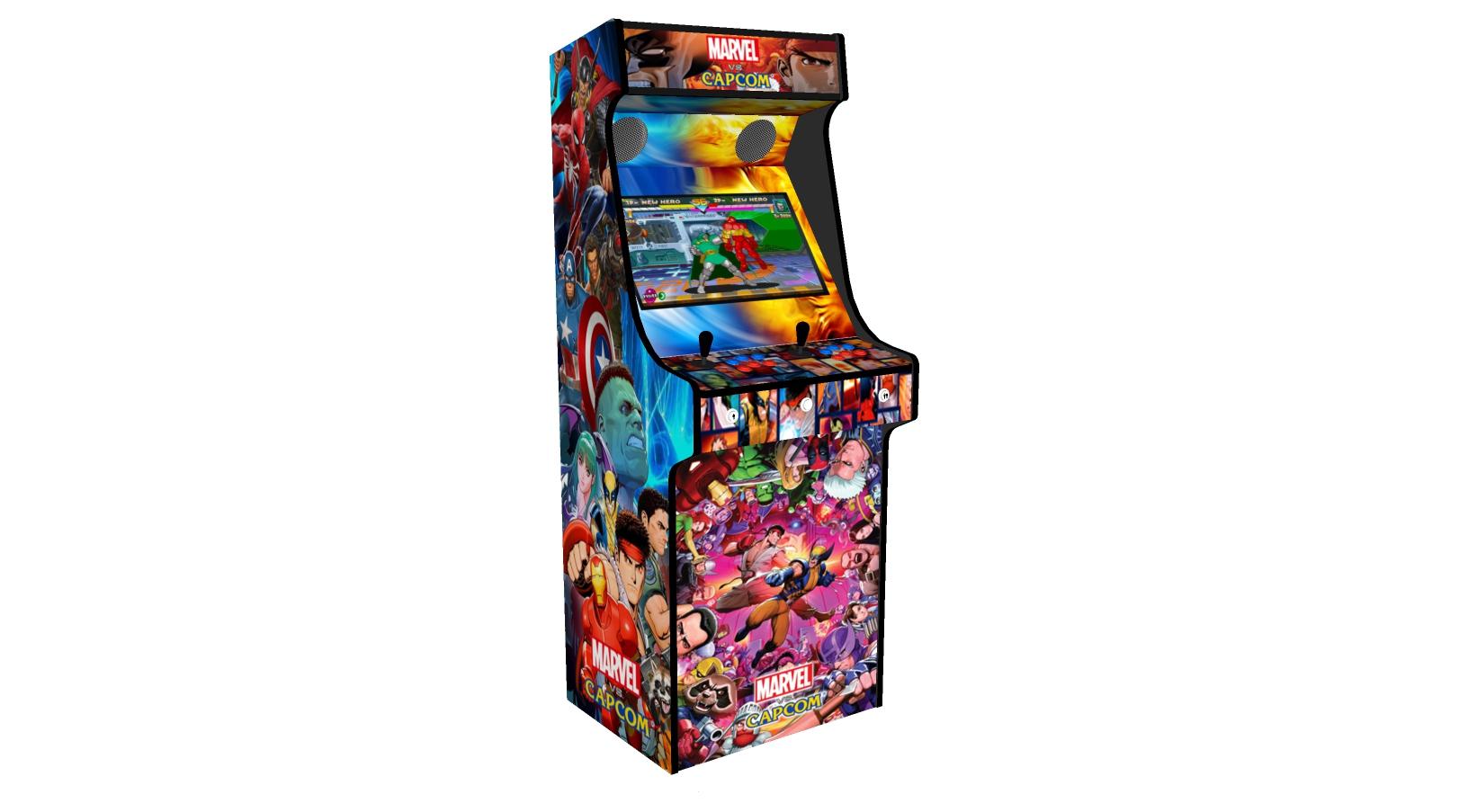 Classic Upright Arcade Machine - Marvel vs Capcom Theme - Left