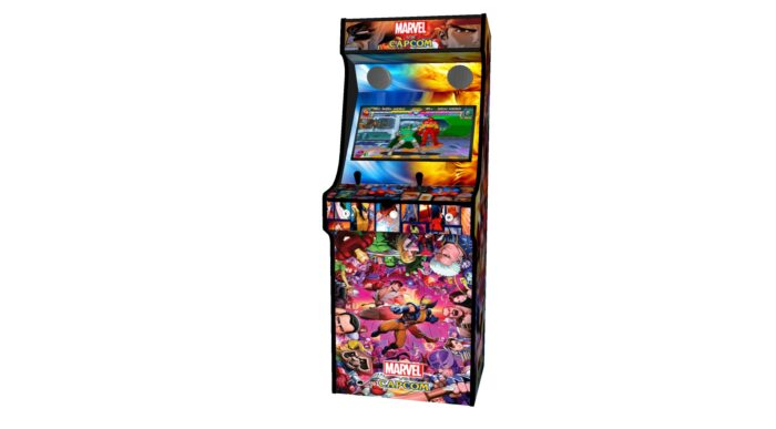 Classic Upright Arcade Machine - Marvel vs Capcom Theme - Midde