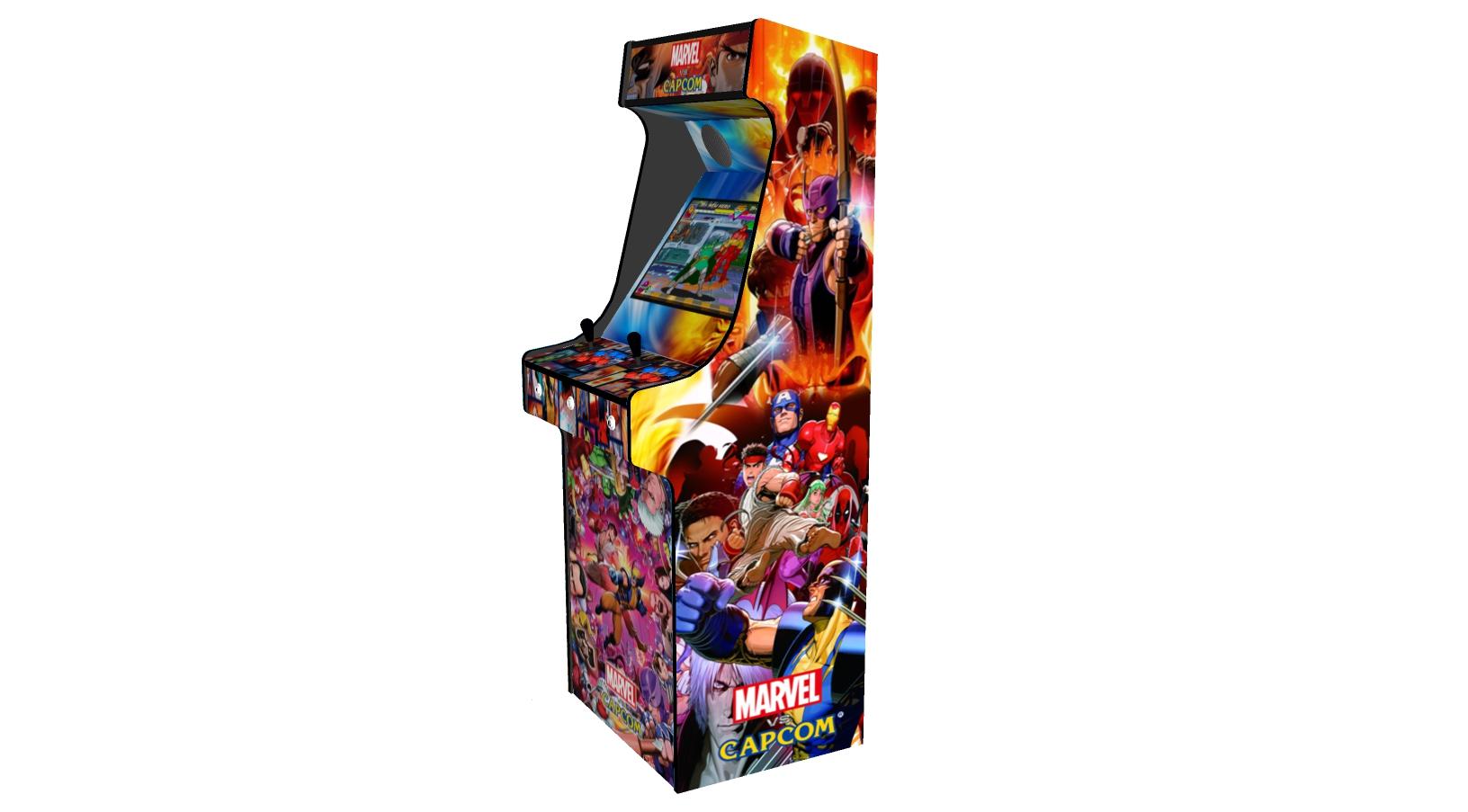 Classic Upright Arcade Machine - Marvel vs Capcom Theme - Right
