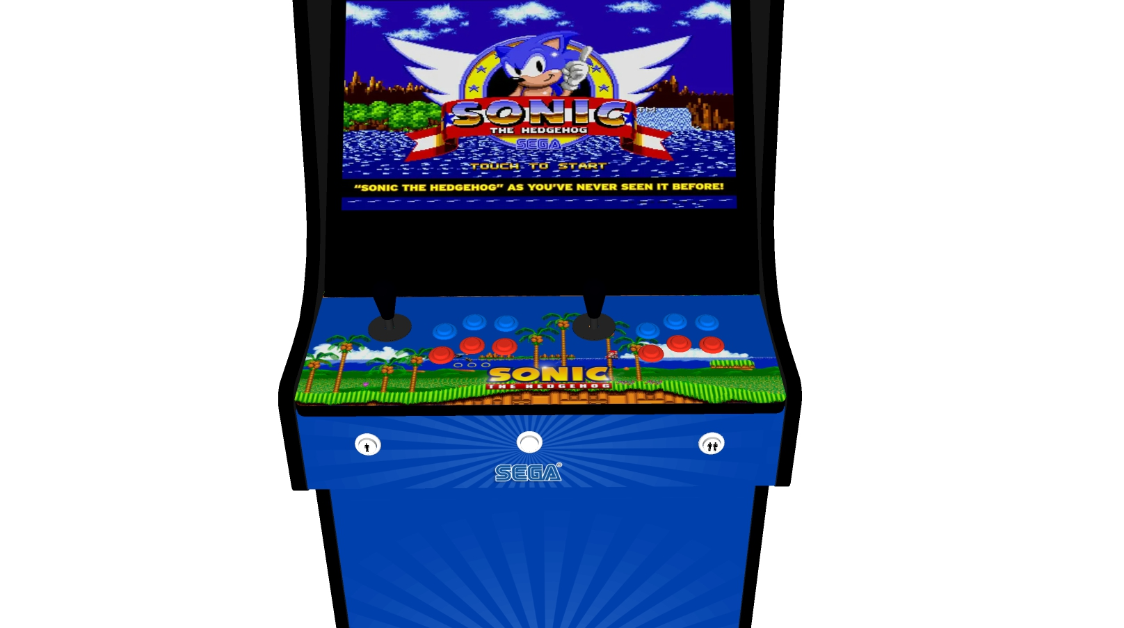 Classic Upright Arcade Machine - Sonic The Hedgehog Theme - Buttons