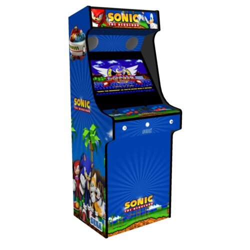 Classic Upright Arcade Machine - Sonic The Hedgehog Theme - Left