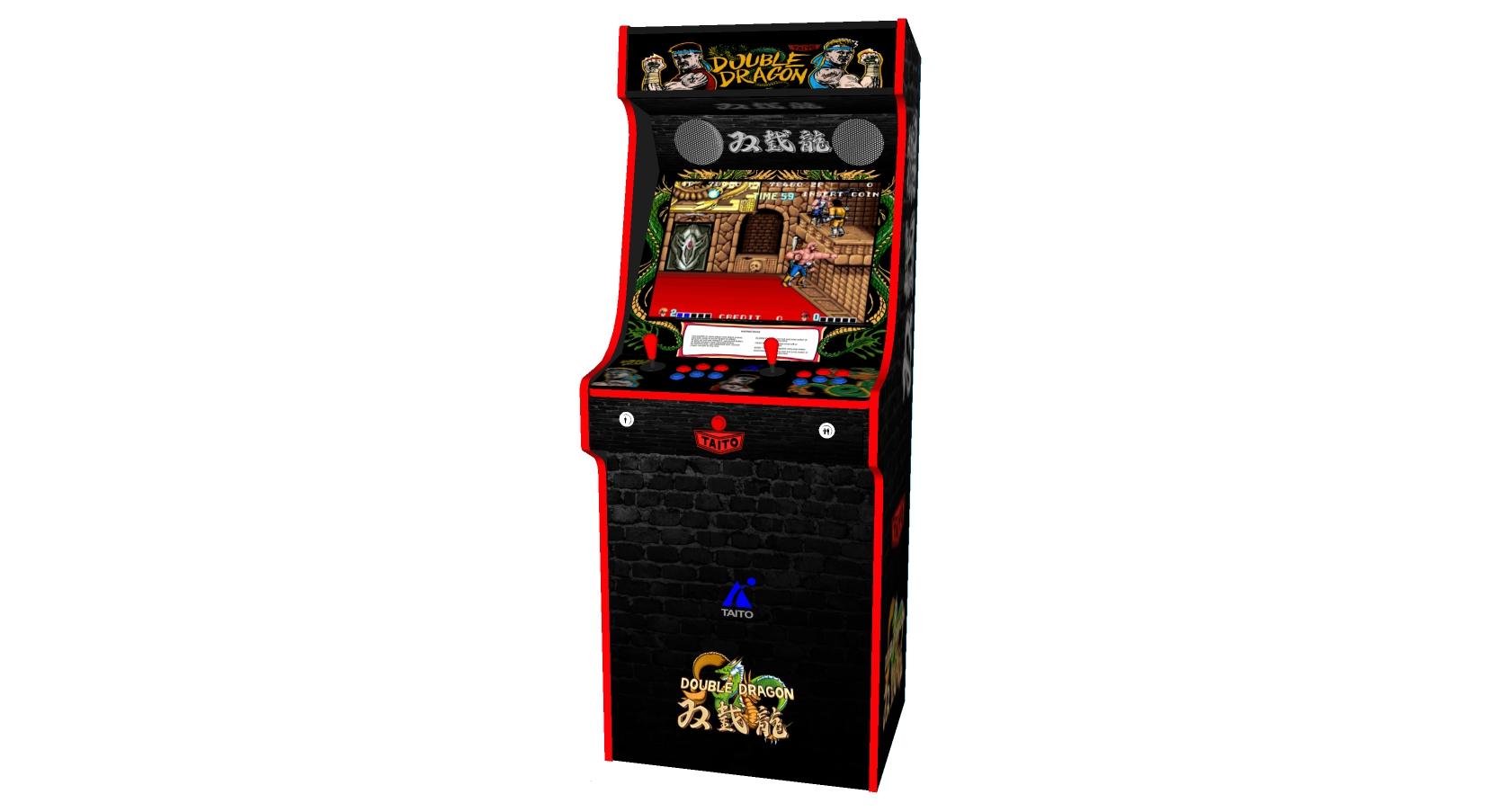 Classic Upright Arcade Machine - Double Dragon Theme v2 3000 games - Centre