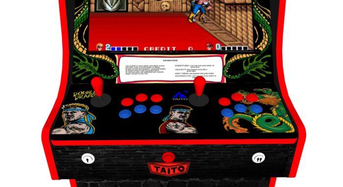 Classic Upright Arcade Machine - Double Dragon Theme v2 3000 games - Controller
