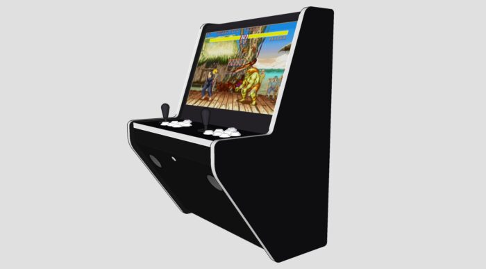 Wall Arcade 3000 Games Black Cab White Buttons and Tmold - Right