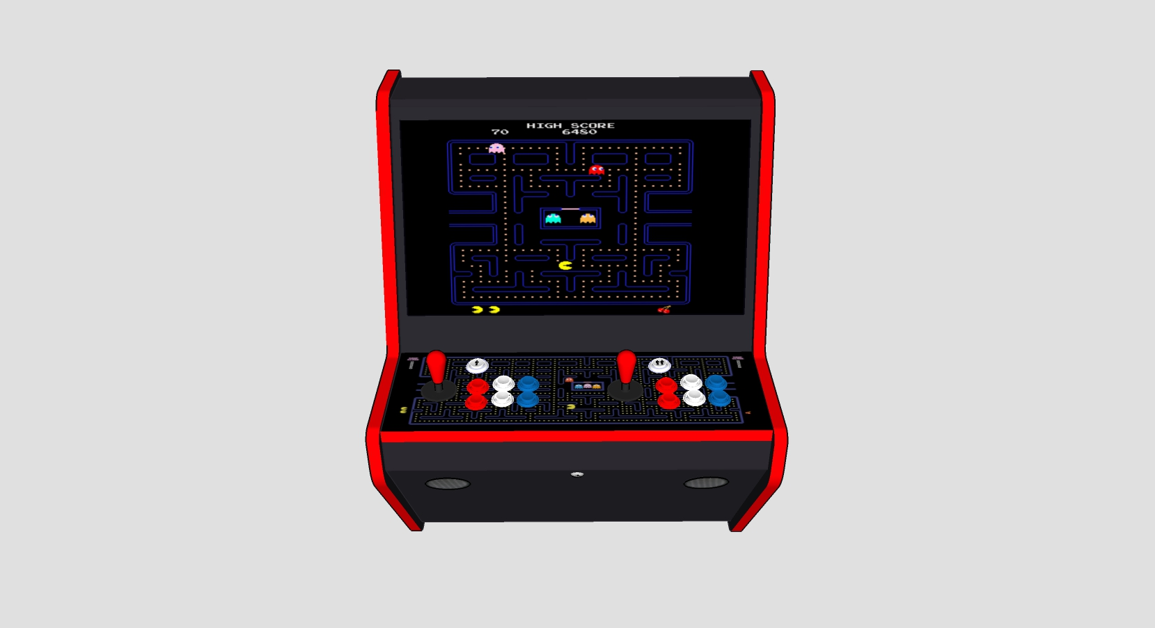 Wall Arcade 3000 Games Pacman Theme - Middle