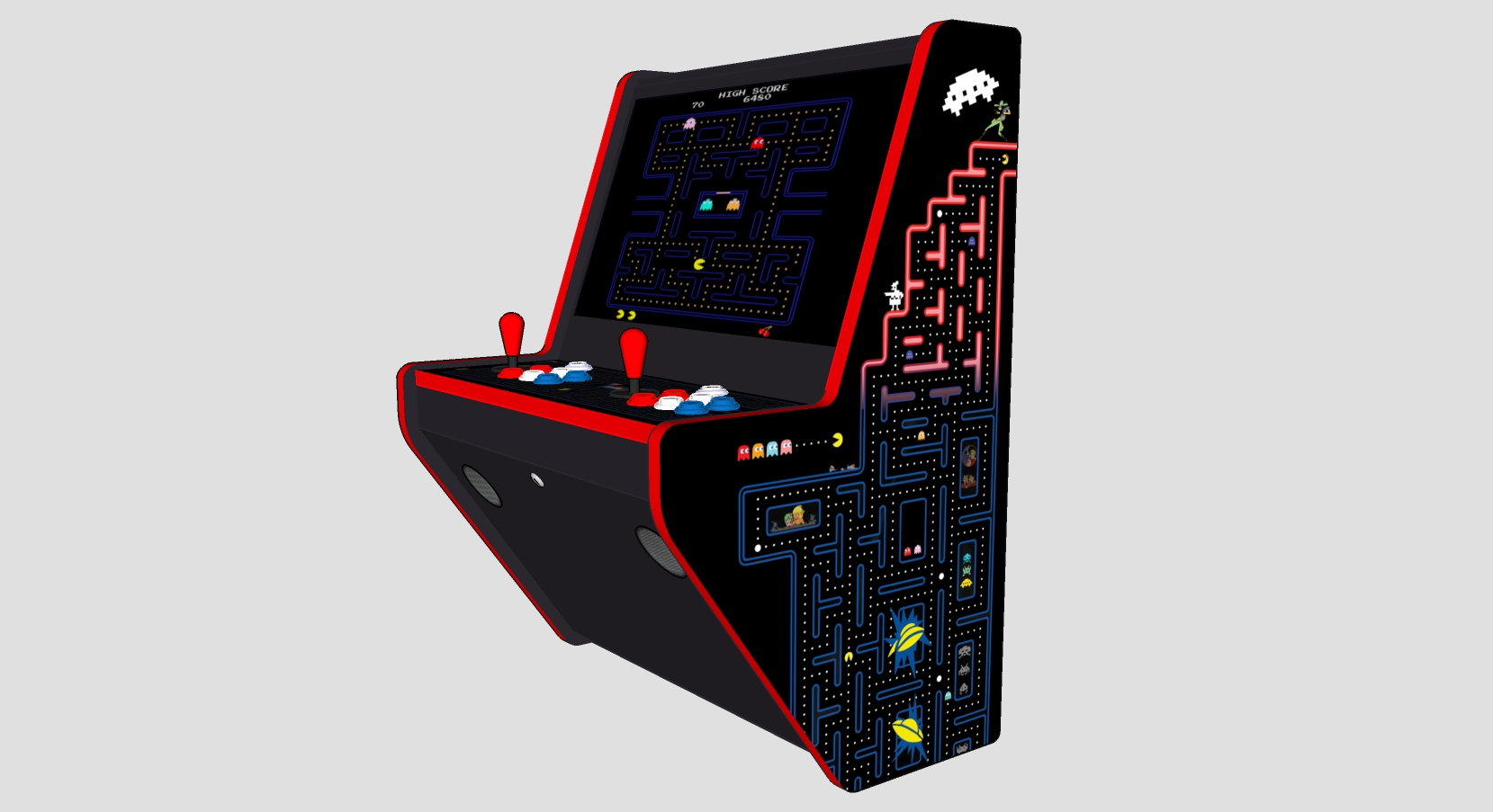 Wall Arcade 3000 Games Pacman Theme - Right