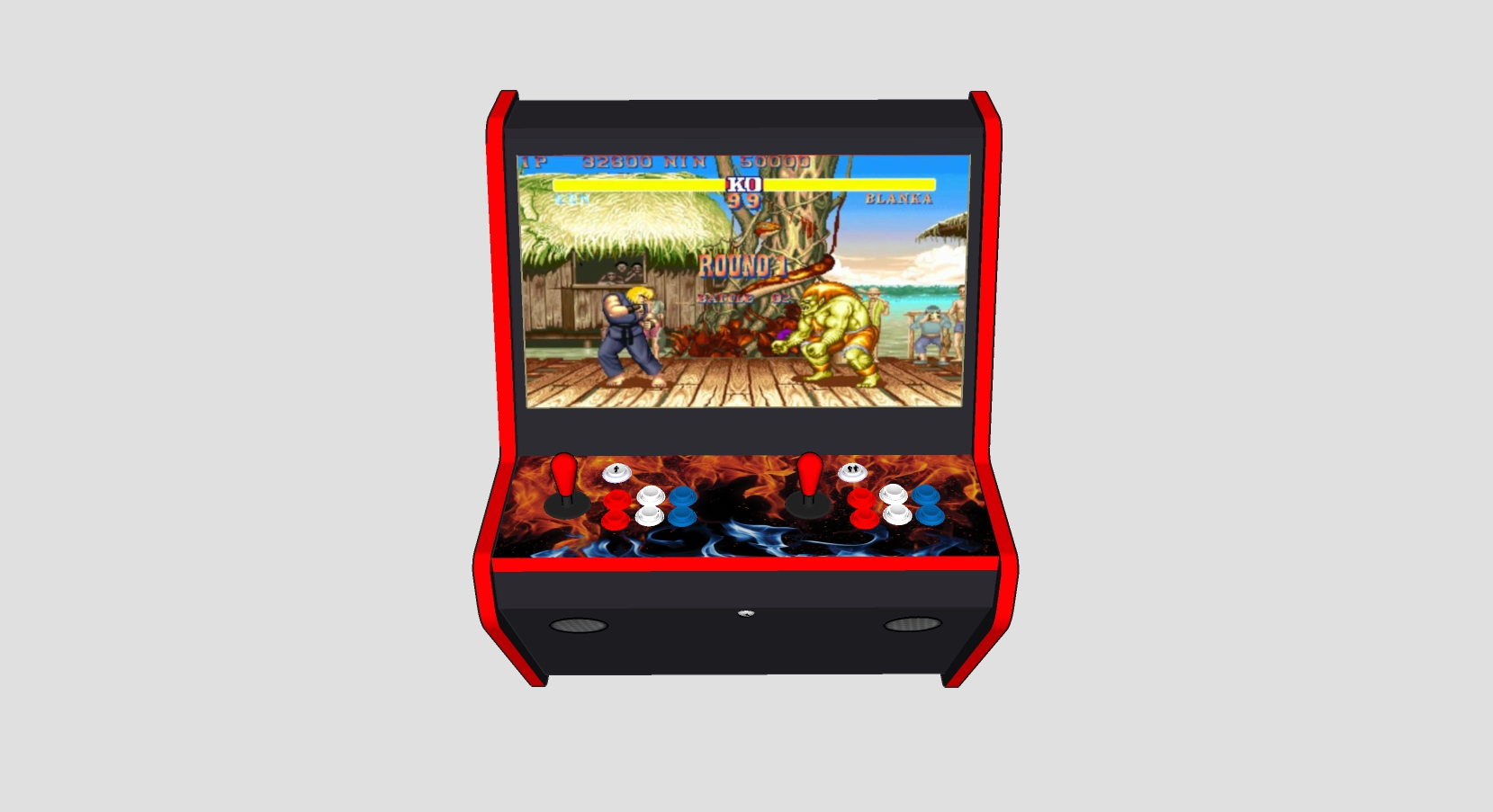 Wall Arcade 3000 Games Street Fighter Theme - Middle