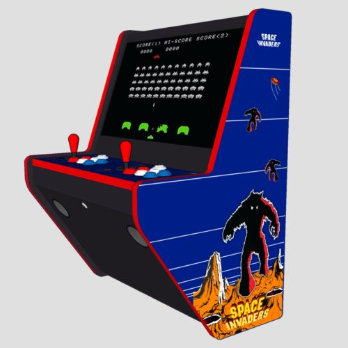 Wall Hung Arcade 3000 Games Space Invaders Theme - Right