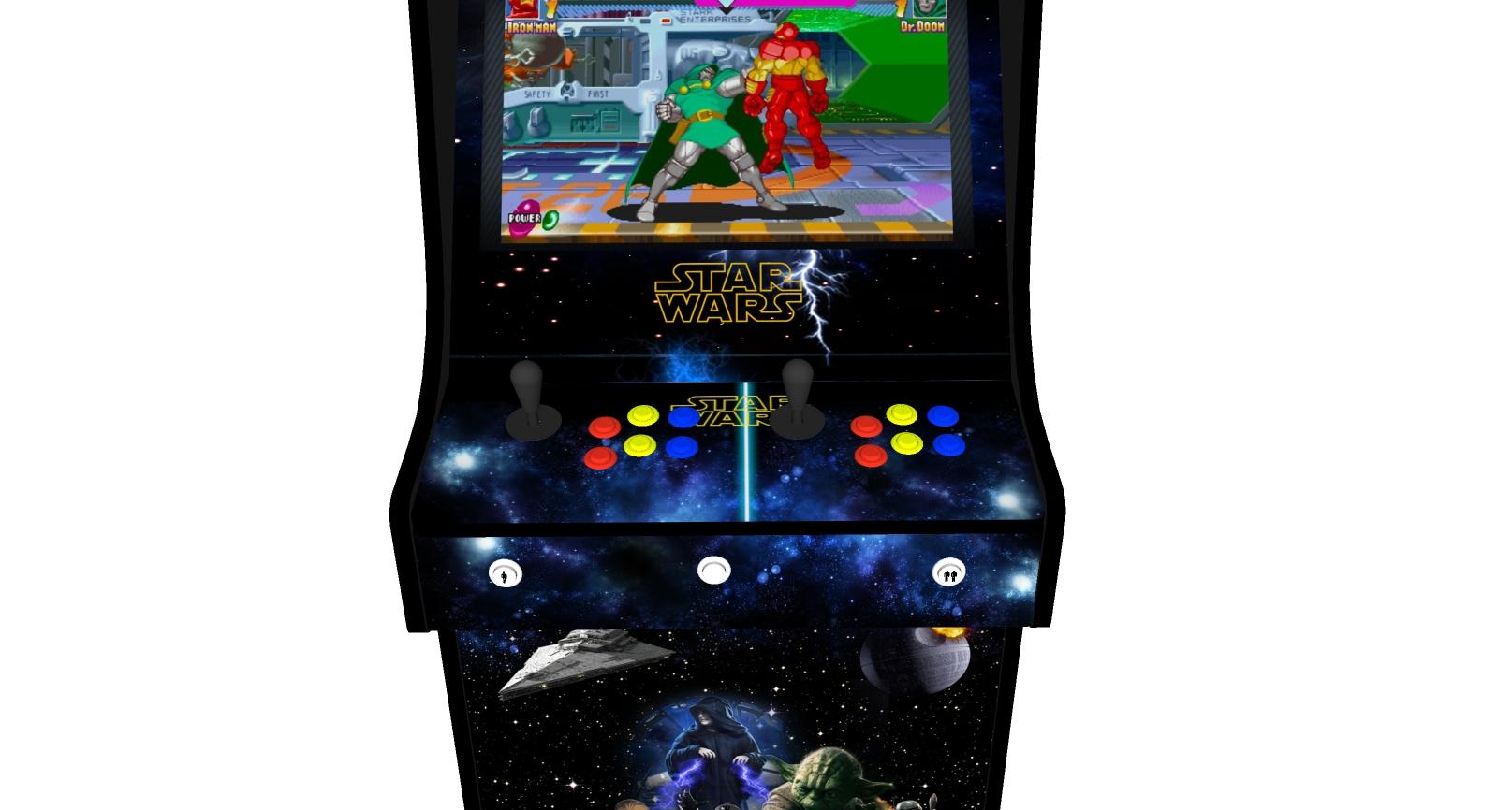 Classic Upright Arcade Machine - Star Wars v2 - Buttons