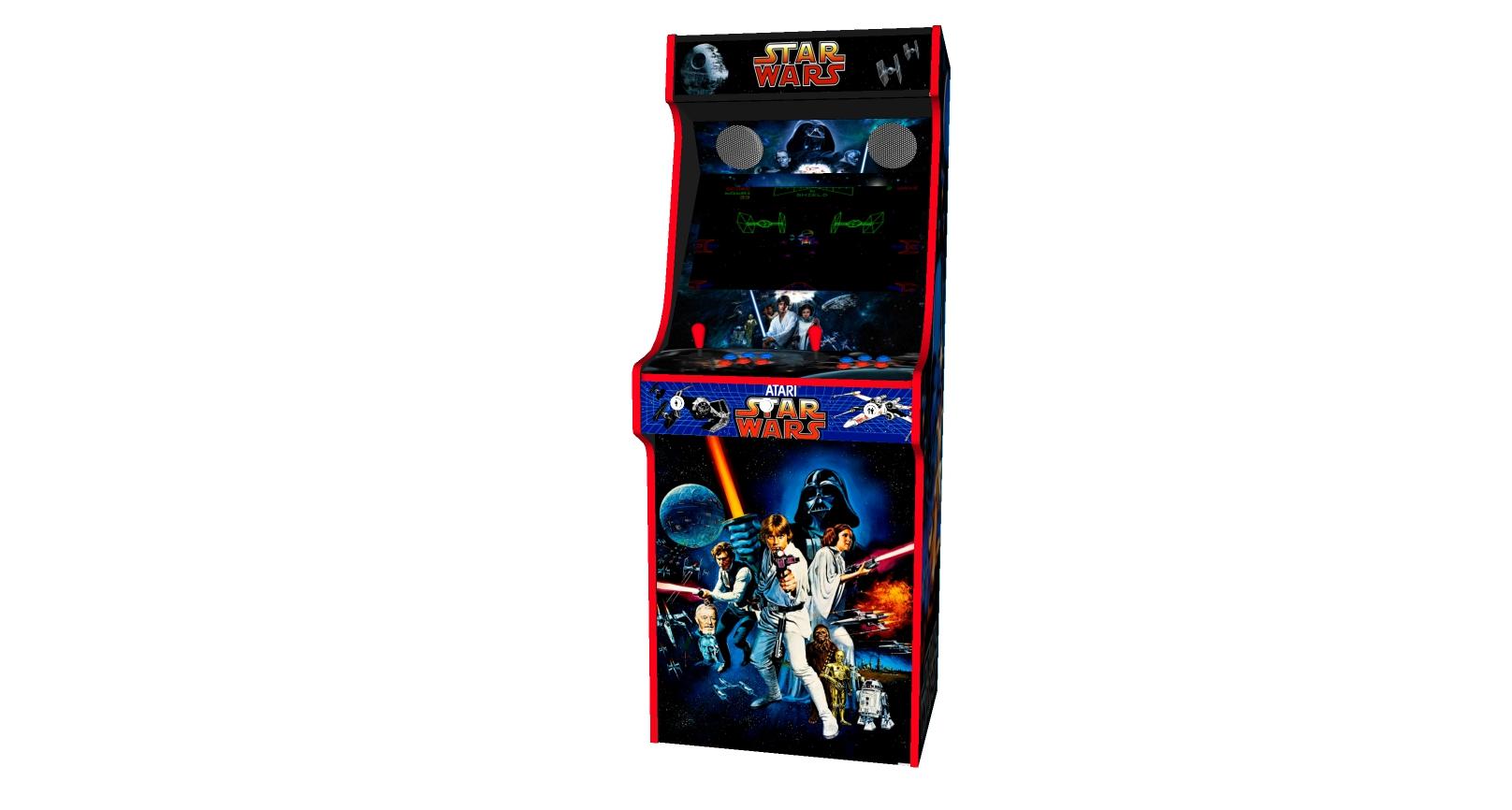 Classic Upright Arcade Machine - Star Wars v3 - Midde