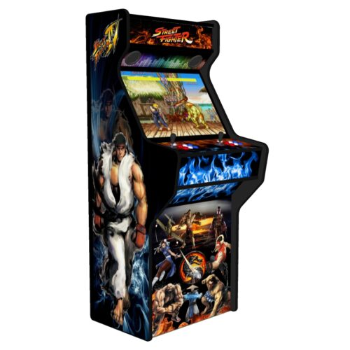 Street Fighter 27 Inch Upright Arcade Machine - American Style Joysticks - Black Tmold - Left