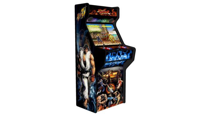 Street Fighter 27 Inch Upright Arcade Machine - American Style Joysticks - Black Tmold - Left