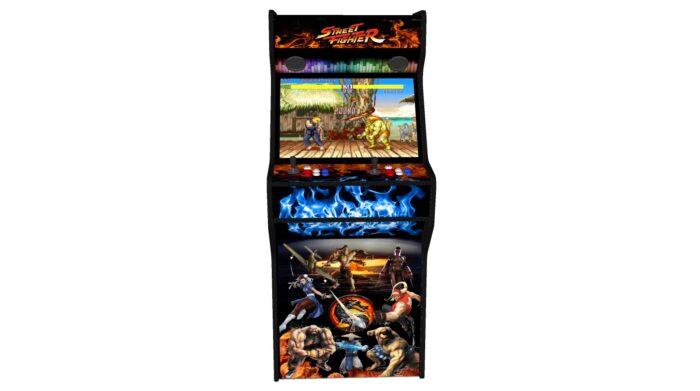 Street Fighter 27 Inch Upright Arcade Machine - American Style Joysticks - Black Tmold - Middle