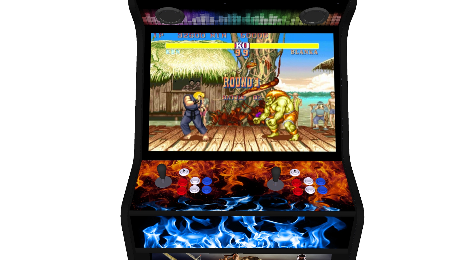 Street Fighter 27 Inch Upright Arcade Machine - American Style Joysticks - Black Tmold - centre
