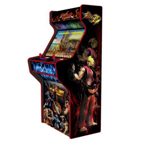 Street Fighter 32 Inch Upright Arcade Machine - American Style Joysticks - Red Tmold - right