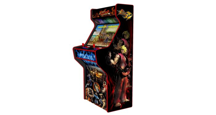 Street Fighter 32 Inch Upright Arcade Machine - American Style Joysticks - Red Tmold - right