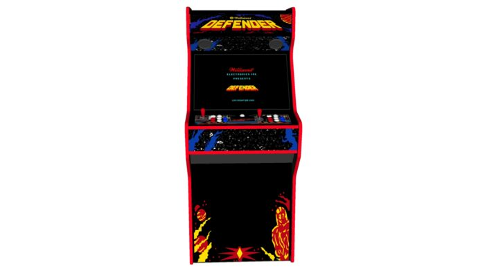 Defender - 27 Inch Upright Arcade Machine - American Style Joysticks - Red Tmold - Middle - 15k games