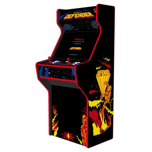Defender - 27 Inch Upright Arcade Machine - American Style Joysticks - Red Tmold - Right - 15k games