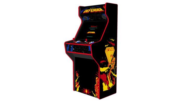 Defender - 27 Inch Upright Arcade Machine - American Style Joysticks - Red Tmold - Right - 15k games