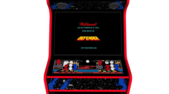 Defender - 27 Inch Upright Arcade Machine - American Style Joysticks - Red Tmold - centre - 15k games