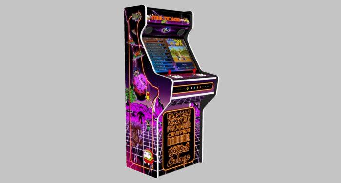 Multicade - 27 Inch Upright Arcade Machine - American Style Joysticks - white Tmold - Left