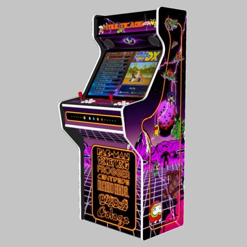 Multicade - 27 Inch Upright Arcade Machine - American Style Joysticks - white Tmold - Right