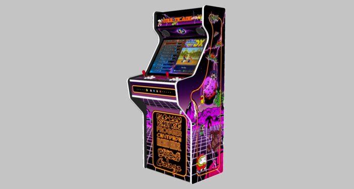 Multicade - 27 Inch Upright Arcade Machine - American Style Joysticks - white Tmold - Right