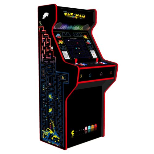 Pacman 27 Inch Upright Arcade Machine - American Style Joysticks - Red Tmold - Left