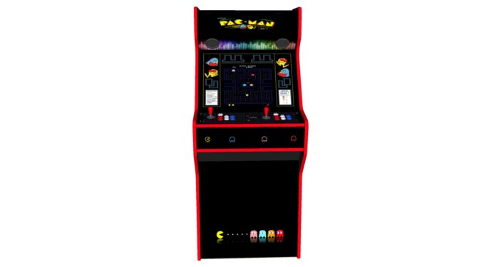 Pacman 27 Inch Upright Arcade Machine - American Style Joysticks - Red Tmold - Middle