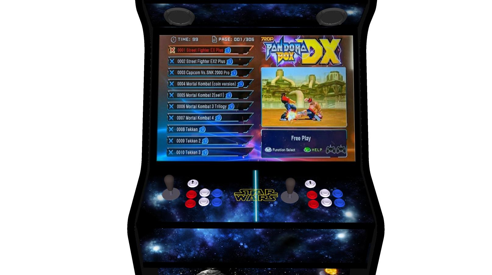 Star Wars 27 Inch Upright Arcade Machine - American Style Joysticks - Black Tmold - controller