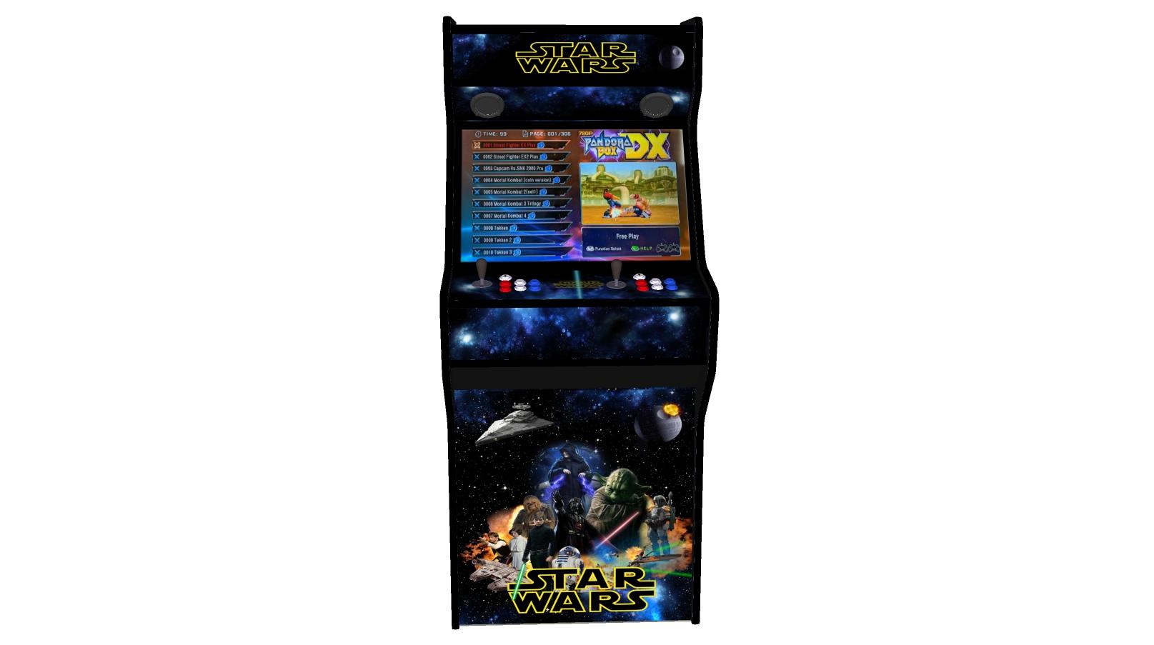 Star Wars 27 Inch Upright Arcade Machine - American Style Joysticks - Black Tmold - middle