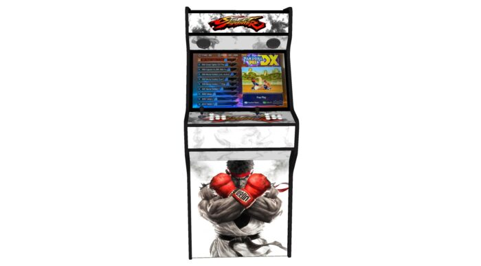 Street Fighter 5 - 27 Inch Upright Arcade Machine - American Style Joysticks - Red Tmold - Middle