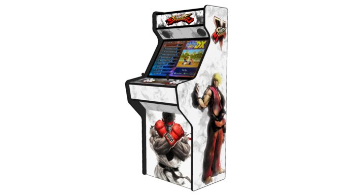 Street Fighter 5 - 27 Inch Upright Arcade Machine - American Style Joysticks - Red Tmold - Right