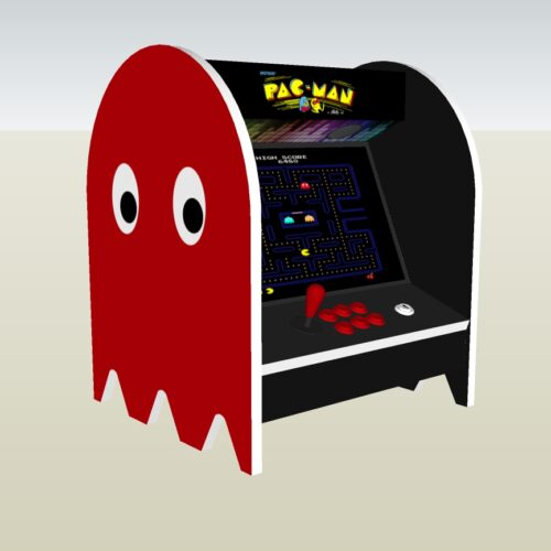The PacMan Blinky Ghost Bartop Arcade Machine - left