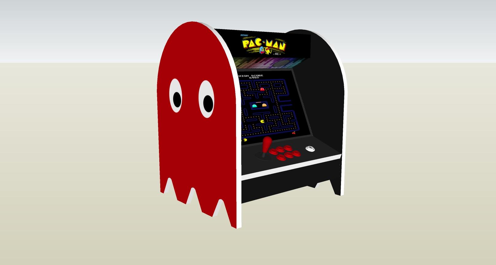 The PacMan Blinky Ghost Bartop Arcade Machine - left