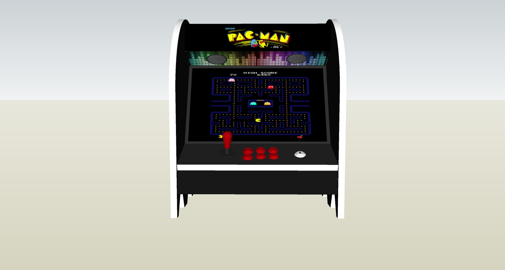 The PacMan Blinky Ghost Bartop Arcade Machine -middle