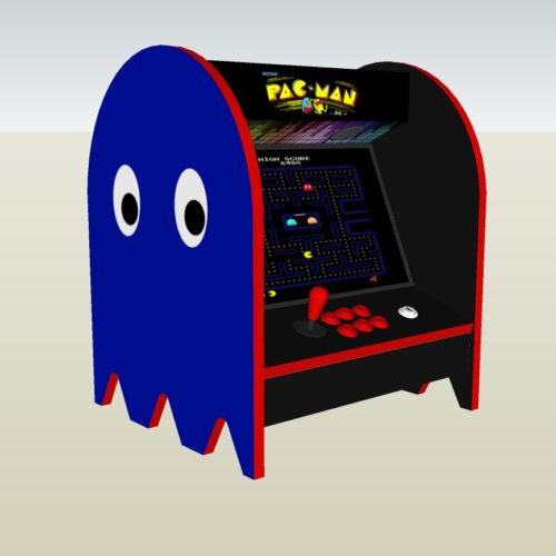 The PacMan Blue Ghost Bartop Arcade Machine - left
