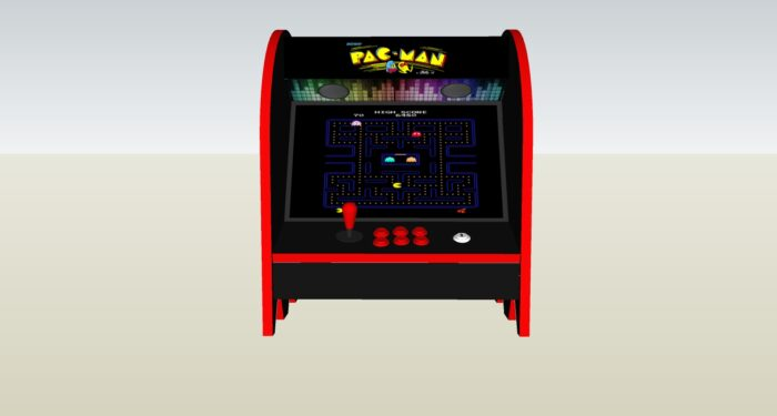 The PacMan Blue Ghost Bartop Arcade Machine - middle