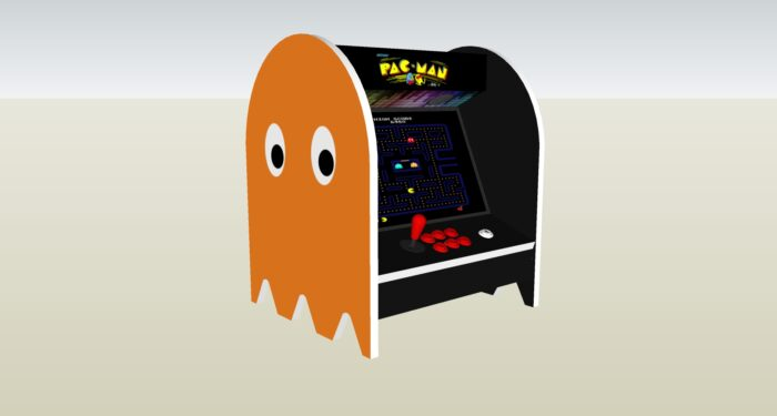 The PacMan Clyde Ghost Bartop Arcade Machine - left