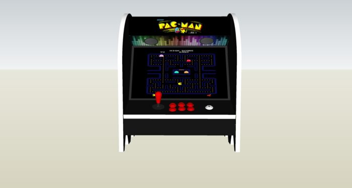 The PacMan Clyde Ghost Bartop Arcade Machine - middle