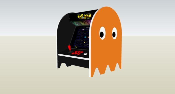The PacMan Clyde Ghost Bartop Arcade Machine - right