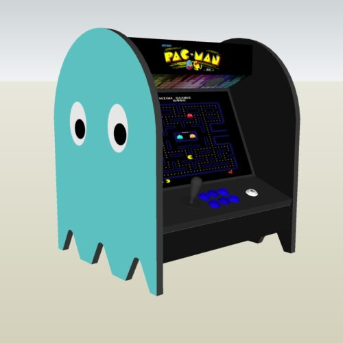 The PacMan Inky Ghost Bartop Arcade Machine - left