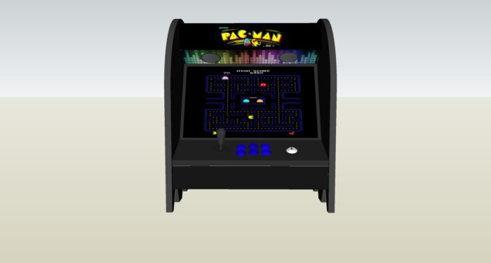 The PacMan Inky Ghost Bartop Arcade Machine - middle