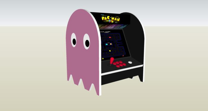 The PacMan Pinky Ghost Bartop Arcade Machine - left
