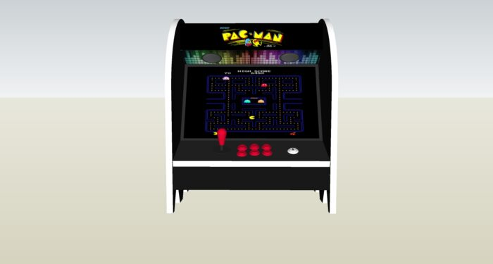 The PacMan Pinky Ghost Bartop Arcade Machine - middle