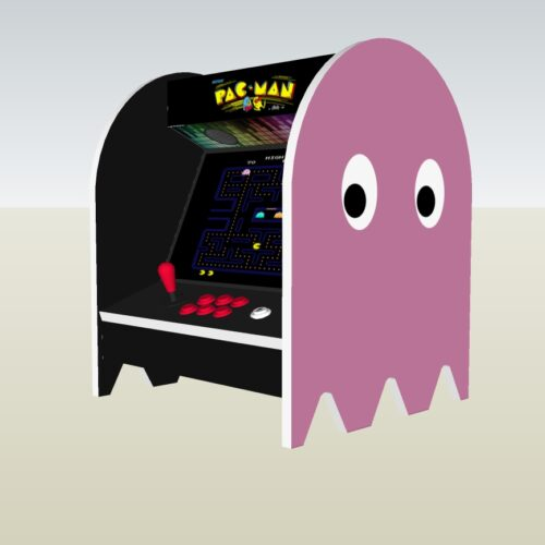 The PacMan Pinky Ghost Bartop Arcade Machine - right